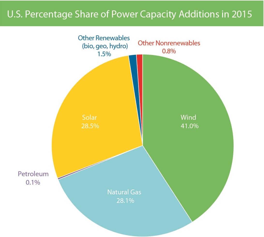 2015 Share of Capacity Installations